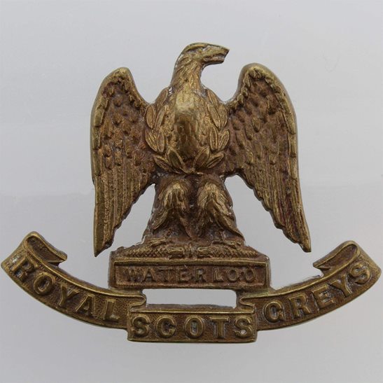 Royal Scots Greys Royal Scots Greys Regiment BRONZE Officers Collar Badge