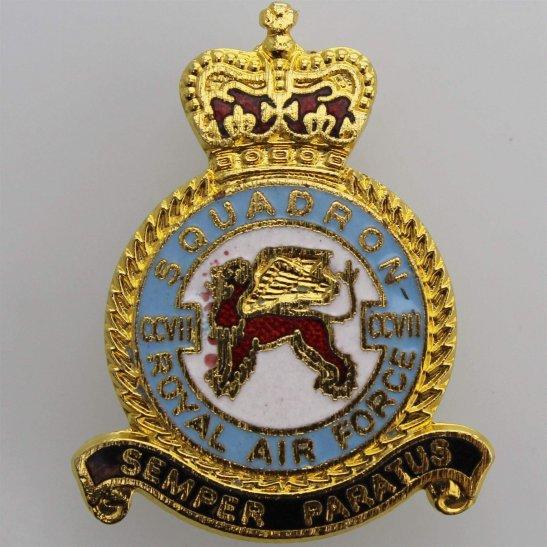 RAF Squadrons CCVII 207 Squadron Royal Air Force RAF Lapel Badge