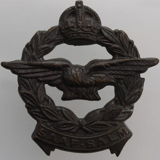 South African Army WW2 South African Air Force SAAF Africa Corps Cap Badge