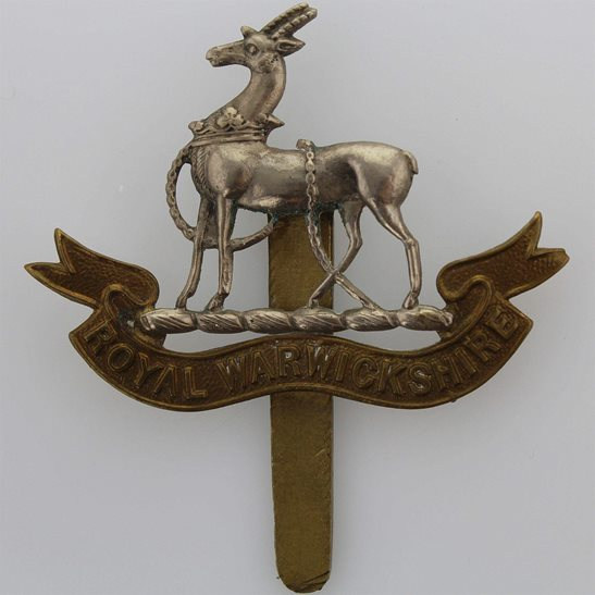 Royal Warwickshire WW1 Royal Warwickshire Regiment Cap Badge