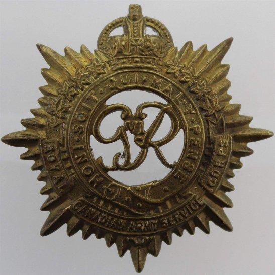 WW2 Canadian Army WW2 Royal Canadian Army Service Corps RCASC Canada CEF Cap Badge