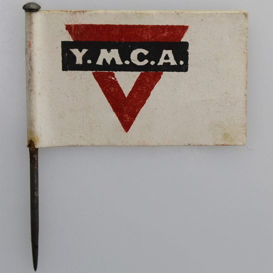 additional image for WW1 Young Mens Christian Association YMCA War Work Flag Day Fundraising Pin Badge