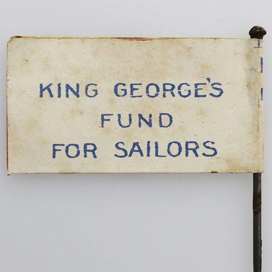 additional image for WW1 King George's Fund for Royal Navy Sailors Flag Day Fundraising Pin Badge