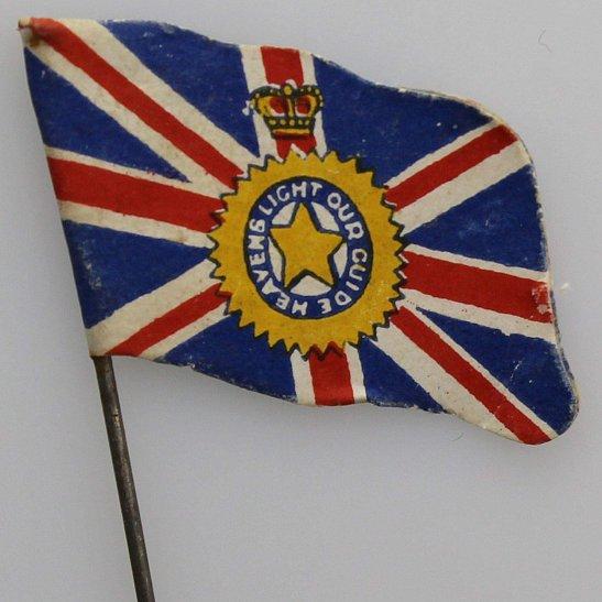 WW1 British Union Jack Flag Day War Effort Patriotic Fundraising Pin Badge