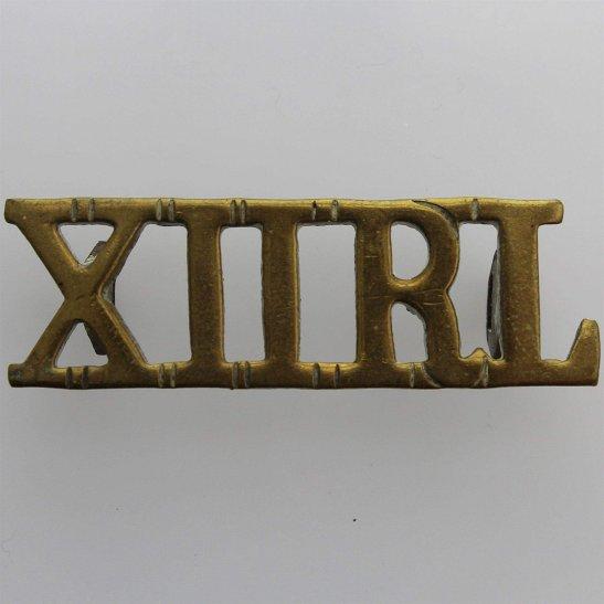 12th Lancers WW1 12th Royal Lancers Regiment (XIIRL) Shoulder Title