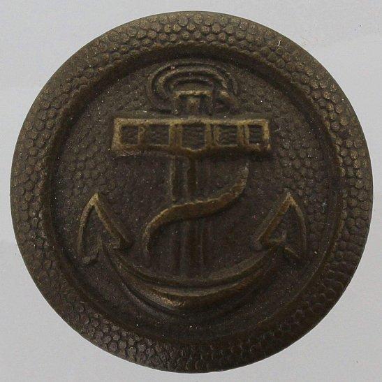 WW1 German Army WW1 Imperial German Navy Anchor Naval Tunic Button - 21mm