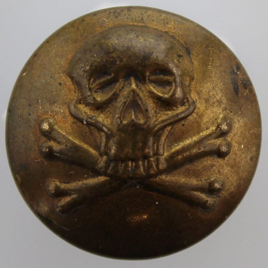 17th / 21st Lancers WW1 17th Lancers Regiment DEATHS HEAD Small Tunic Button - 19mm