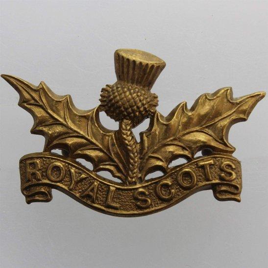 Royal Scots Royal Scots (Scottish) Regiment Collar Badge