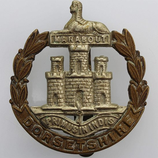 Dorset Regiment WW1 Dorsetshire (Dorset) Regiment Cap Badge