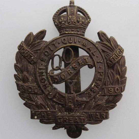 Queens Own Dorset Yeomanry Queens Own Dorset Yeomanry Regiment Cap Badge - FIRMIN LONDON