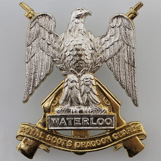 Royal Scots Dragoon Guards Royal Scots Dragoon Guards Regiment Staybrite Anodised Cap Badge - Staybright