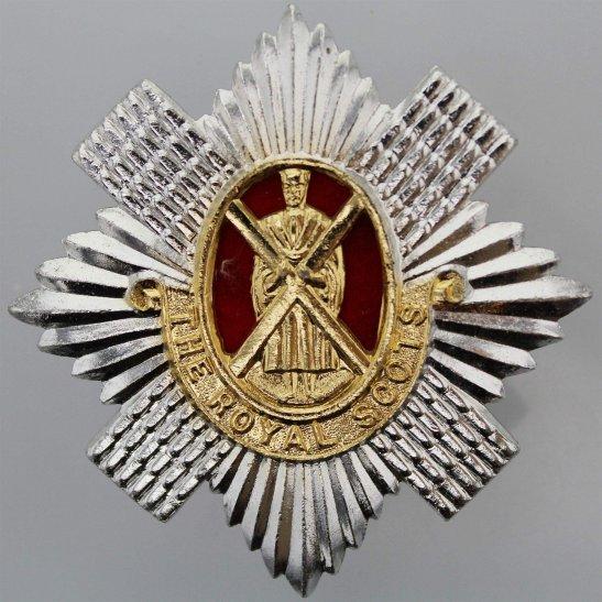 Royal Scots Royal Scots Regiment Scottish Staybrite Anodised Cap Badge - Staybright