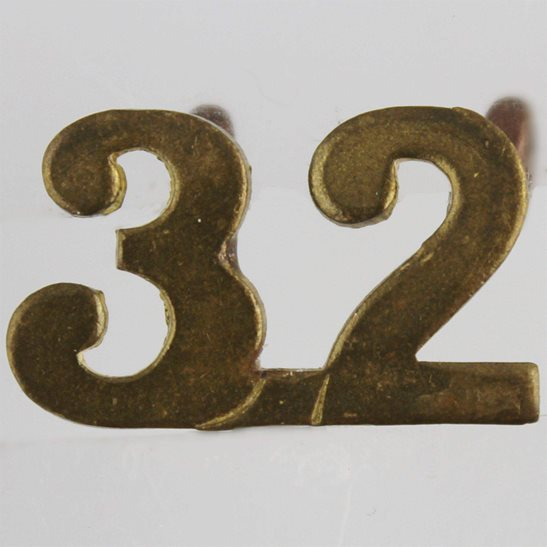 WW1 Canadian Army WW1 32nd (Manitoba & Saskatchewan) Battalion CEF Canadian Shoulder Title