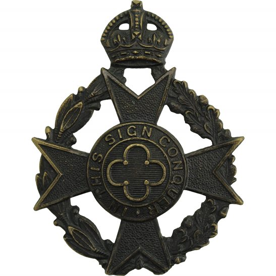 Royal Army Chaplains Department WW2 Royal CANADIAN Army Chaplains Department Officers Cap Badge - SCULLY MONTREAL