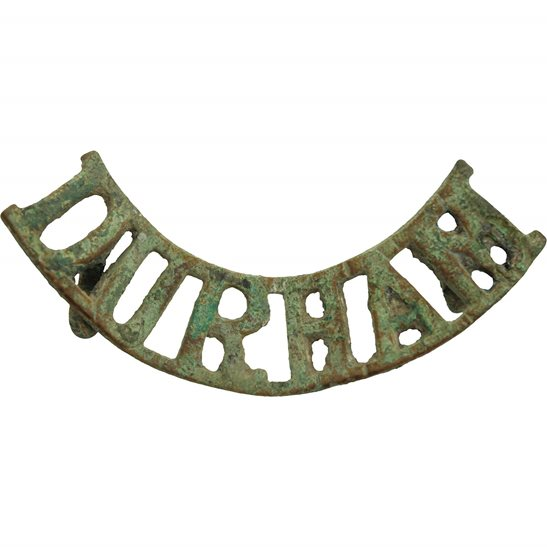 Durham Light Infantry UK Dug Detecting Find - WW1 Durham Light Infantry Regiment Relic Shoulder Title