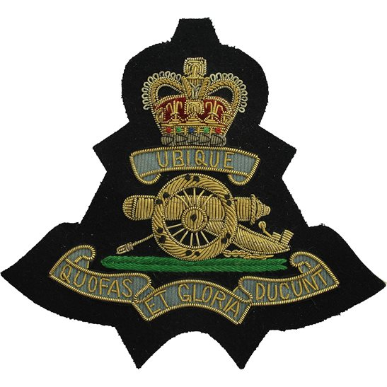 Royal Artillery Royal Artillery Regiment Cloth Wire BULLION Veterans Blazer Badge