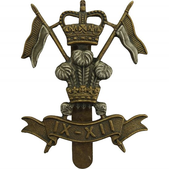 9th / 12th Royal Lancers 9th / 12th Royal Lancers Regiment Cap Badge IX / XII - Queens Crown