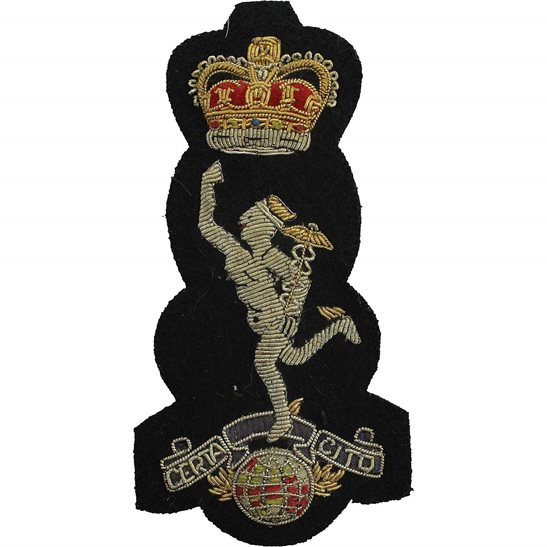 Machine Gun Corps MGC Royal Corps of Signals RCOS Cloth Wire BULLION Veterans Blazer Badge