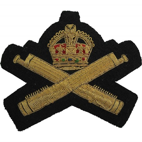 Machine Gun Corps MGC Machine Gun Corps MGC Cloth Wire BULLION Veterans Blazer Badge