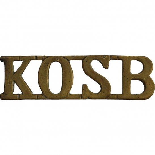 Kings Own Scottish Borderers Kings Own Scottish Borderers Regiment KOSB King's Shoulder Title