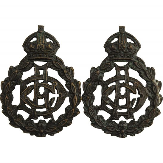 Army Dental Corps Army Dental Corps ADC Officers BRONZE Collar Badge PAIR