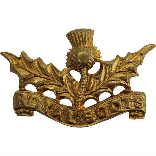 Royal Scots WW2 Royal Scots (Scottish) Regiment Collar Badge