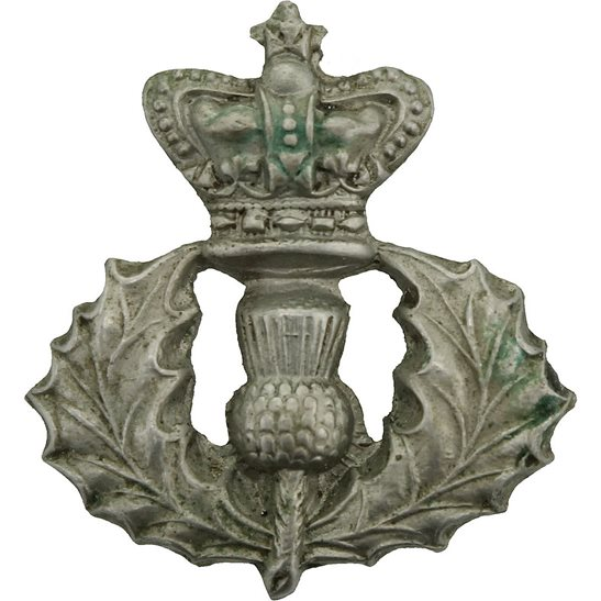 Cameron Highlanders VICTORIAN Queens Own Cameron Highlanders Regiment Queen's Scottish Collar Badge
