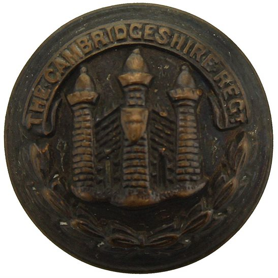 Cambridgeshire Regiment Cambridgeshire Regiment SMALL Tunic Button - 20mm