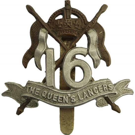 16th Lancers 16th (The Queens Lancers) Regiment Cap Badge
