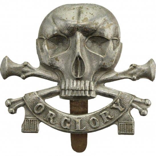 17th / 21st Lancers WW2 17th / 21st Lancers (Deaths Head) Regiment Cap Badge