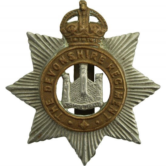 Devonshire Regiment WW1 Devonshire Regiment Cap Badge
