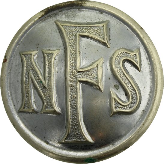 Auxiliary Fire Service WW2 National Fire Service Brigade Corps NFS Tunic Button - 25mm