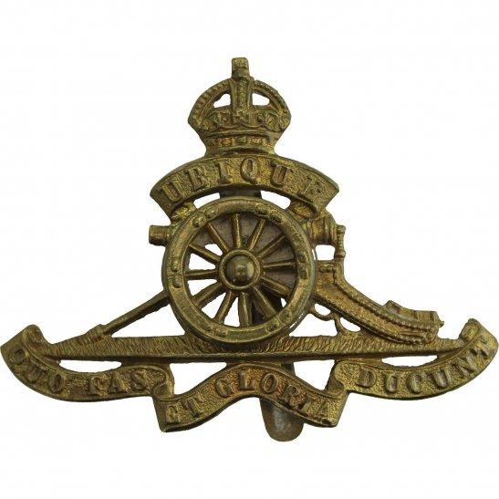 Royal Artillery WW2 Royal Artillery Regiment MOVING / ROTATING WHEEL VERSION Cap Badge