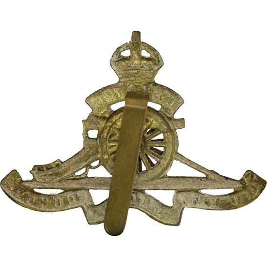 additional image for WW2 Royal Artillery Regiment MOVING / ROTATING WHEEL VERSION Cap Badge