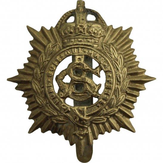 Army Service Corps ASC WW1 Army Service Corps ASC Cap Badge - F.E. WOODWARD B'HAM Makers Mark