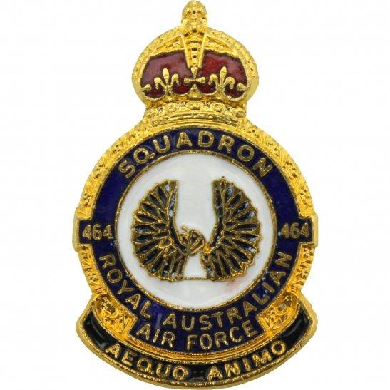 RAF Squadrons 464 Squadron Royal Australian Air Force RAAF Lapel Badge