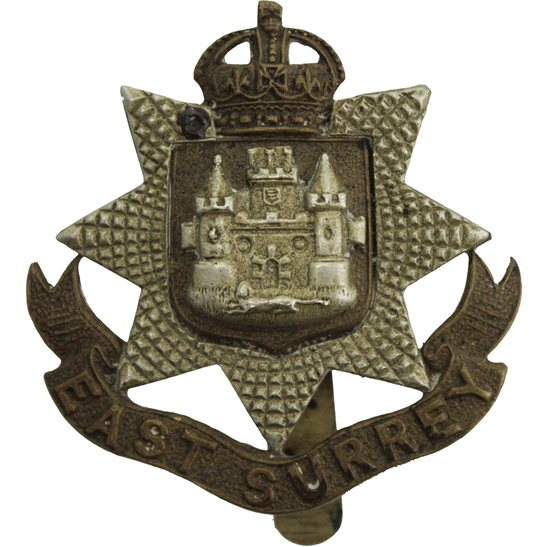 East Surrey WW1 East Surrey Regiment Cap Badge