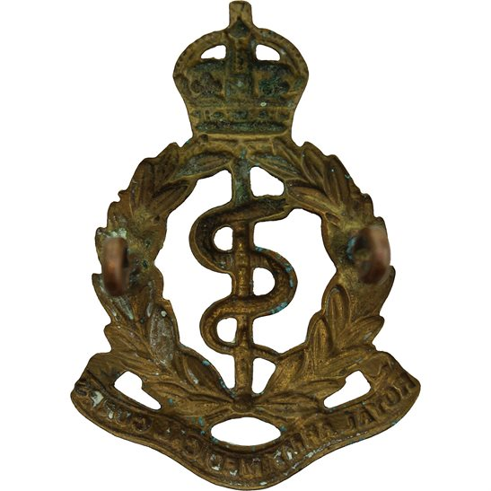 additional image for WW1 Royal Army Medical Corps RAMC Cap Badge - LUGS VERSION