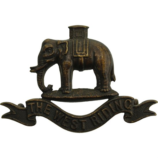 West Riding Duke of Wellingtons West Riding Regiment OFFICERS Bronze Collar Badge