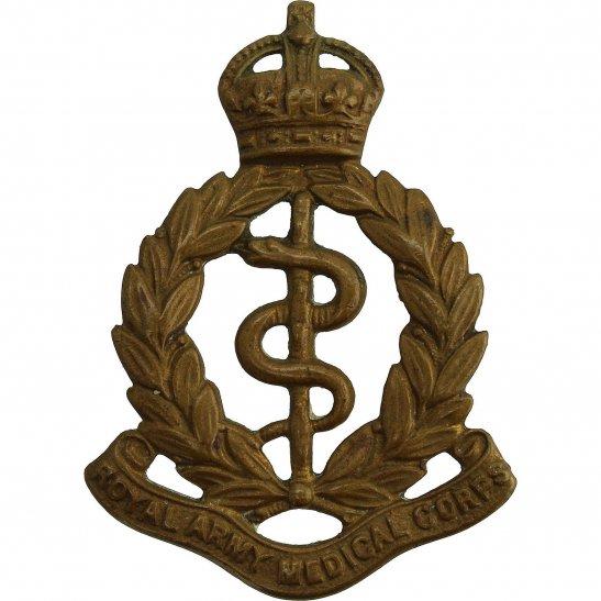 Royal Army Medical Corps RAMC WW1 Royal Army Medical Corps RAMC Cap Badge - LUGS VERSION