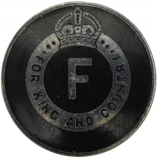 1930s British Union of Fascists BUF Members For King and Country Lapel Badge - J.R.GAUNT & SON