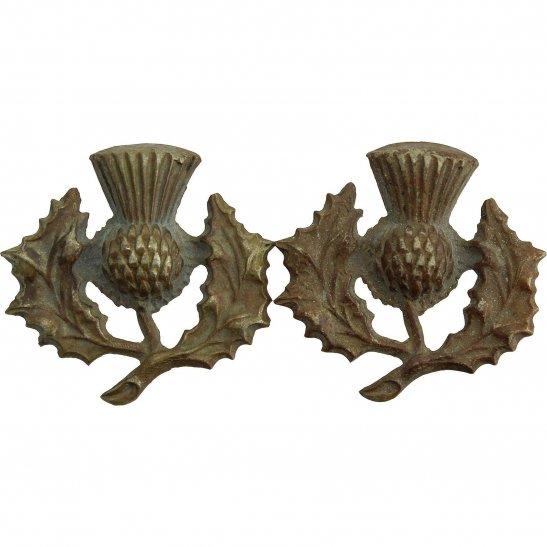 London Scottish 14th Battalion, The London Scottish Regiment Collar Badge PAIR