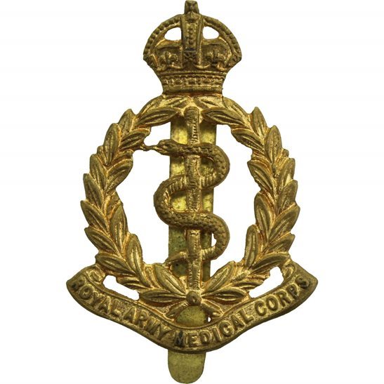 Royal Army Medical Corps RAMC WW2 Royal Army Medical Corps RAMC Cap Badge