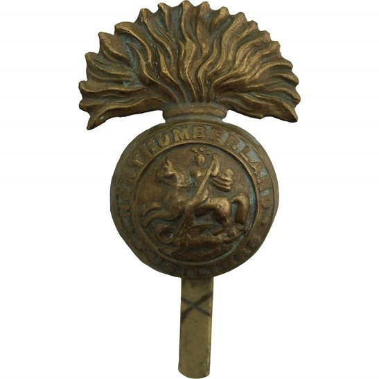 Northumberland Fusiliers WW1 Northumberland Fusiliers Regiment Cap Badge - FIRST PATTERN