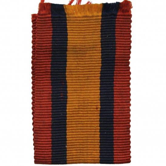 Boer War Spare Queens South Africa QSA Medal SILK Ribbon - 4 Inches