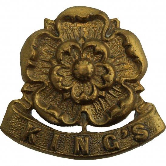 Kings Liverpool VICTORIAN Kings Liverpool Regiment (King's) Collar Badge
