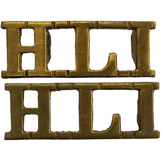 Highland Light Infantry Highland Light Infantry Regiment HLI Scottish Shoulder Title PAIR
