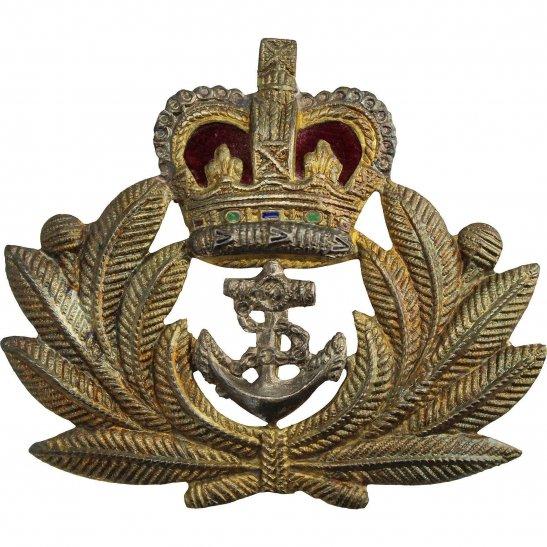 Royal Navy Royal Naval Petty Officers British Navy Cap Badge - Queens Crown