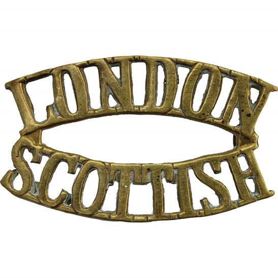 London Scottish 14th Battalion, The London Scottish Regiment Shoulder Title