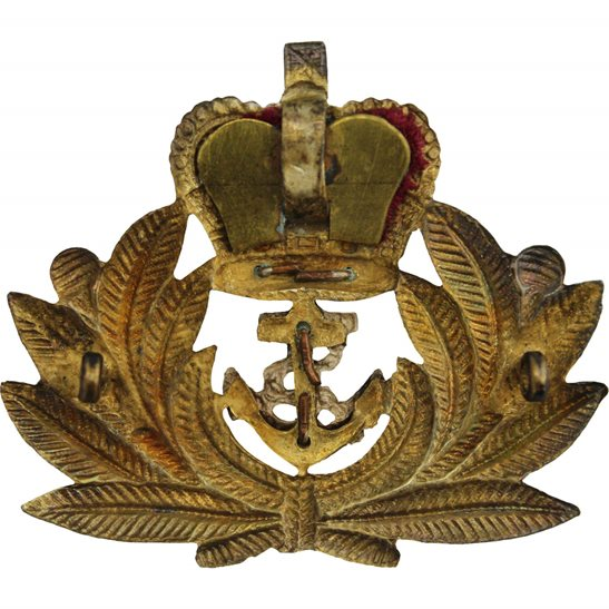 additional image for Royal Naval Petty Officers British Navy Cap Badge - Queens Crown